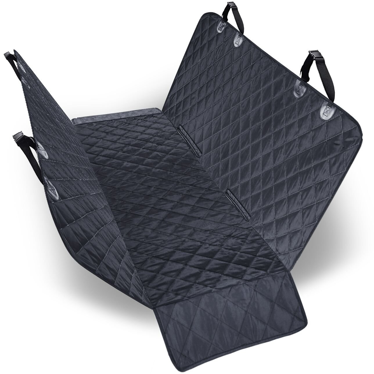URPOWER 100% Waterproof Dog Car Seat Covers Car Cover for Dogs Pet Seat Cover with Side Flaps Hammock Convertible Scratch Proof Nonslip Washable Padded Dog Seat Cover for Cars Trucks and SUVs
