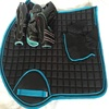 Horse Cotton All purpose Show Quilted ENGLISH SADDLE PAD Brown NEW Horse Saddle Pad quilted equestrian riding pad white