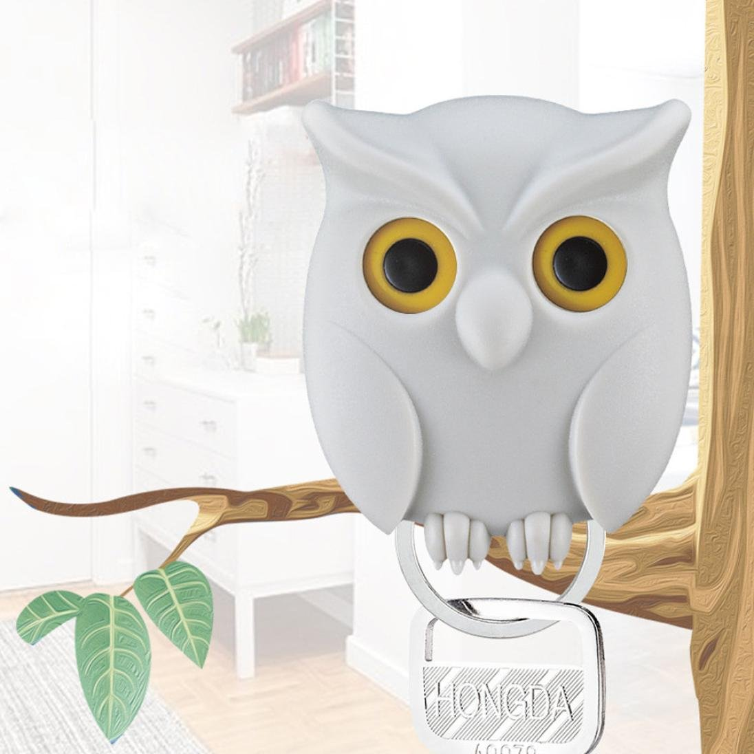 Get Quotations Highpot Night Owl Key Holder Wall Mounted Magnetic Creative Home Decor White