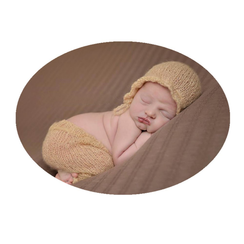 c6124ebb8ca Get Quotations · Newborn Baby Photo Props Outfits Crochet Mohair Hat Pants  Set for Boy Girls Photo Shoot