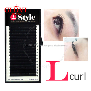 L-Style L Curl Silk Lash / Korean High Quality Fiber / Eyelash Extension False Eyelashes