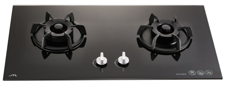 Electric Gas Cooker Tempered Glass 2 Stove