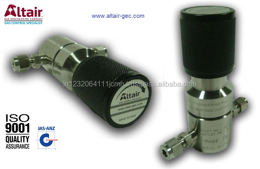 SS High Purity Low Pressure Point of use Pressure Regulator