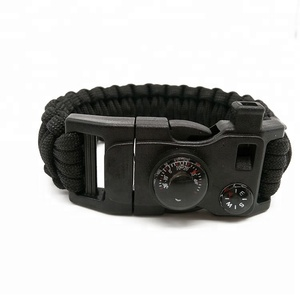 OEM Outdoor Multifunctional Military Survival Paracord Bracelet With Compass Whistle