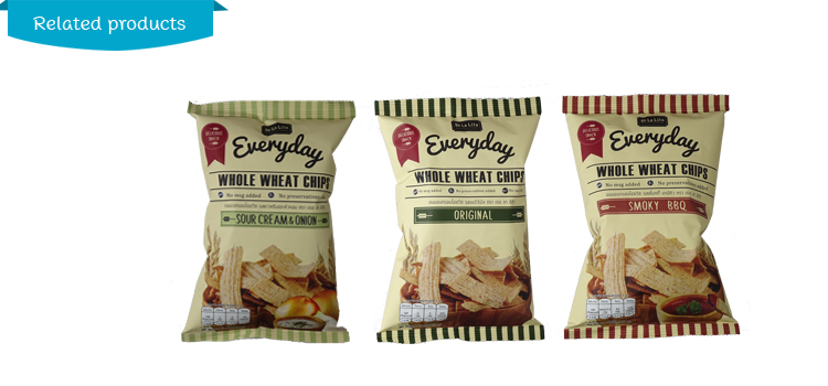 Whole grain snack wheat chip BBQ flavor from Thailand