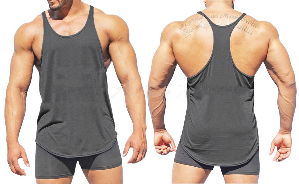 3cec120d0e8352 Mens Bodybuilding Tank Tops Y Back Gym Clothing And Muscles Tank Top ...