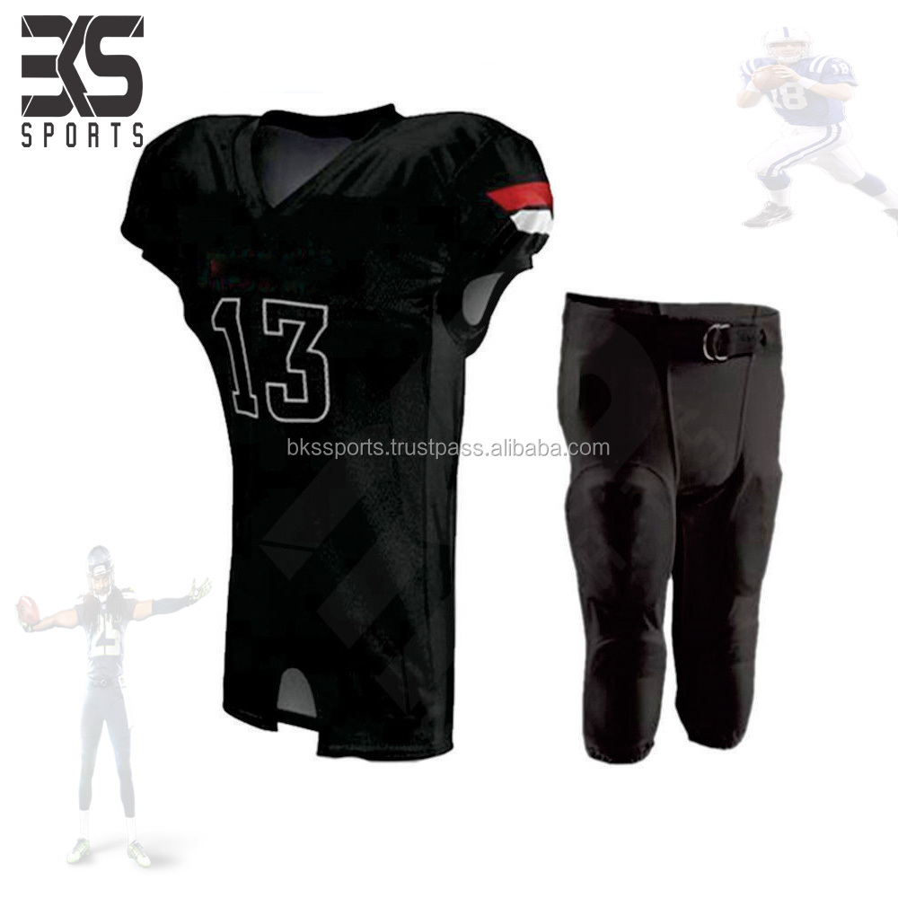 Manufacturer Stitched American Football Uniforms Custom Made American