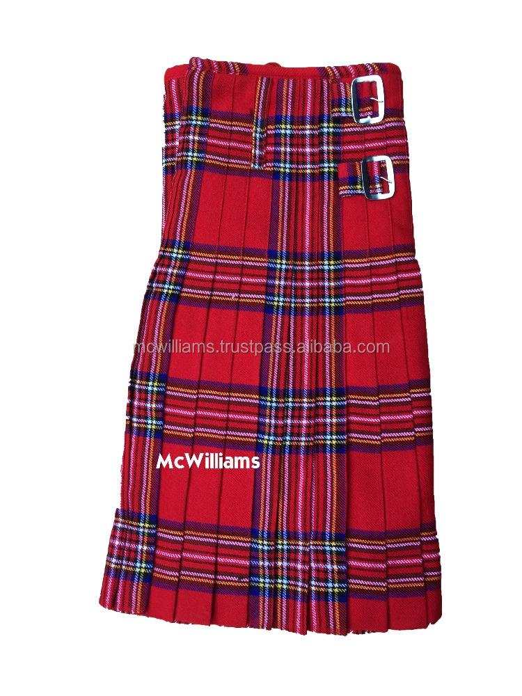 Scottish Highland Onstyle Music Custom Wallace Tartan Fashion Men Modern Kilts