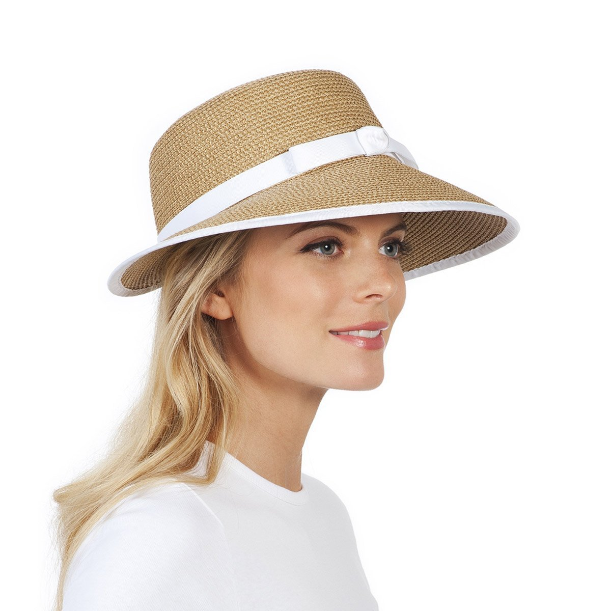 Get Quotations · Eric Javits Luxury Fashion Designer Women s Headwear Hat - Squishee  Cap - Natural White 8dc2f686a666