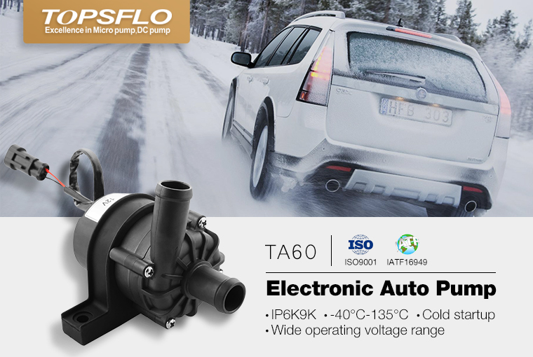 TOPSFLO TA50/TA60 12v 24v DC brushless engine cooling automotive water pump