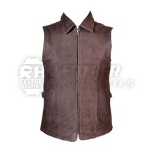 Jagd-Lederweste / 100 % Real Nubuck Soft & Strong Men Leather Vest and Waistcoat With Beautiful look Outdoor Hunting Shooting