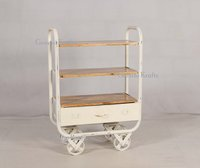 Vintage Industrial Moving Trolley Furniture, Cast Iron Wheel Trolley