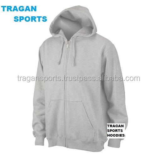 Men's Kangaroo Pocket Customized Wholesale Plain Hoodies Half Zip Sweatshirts Hoodies