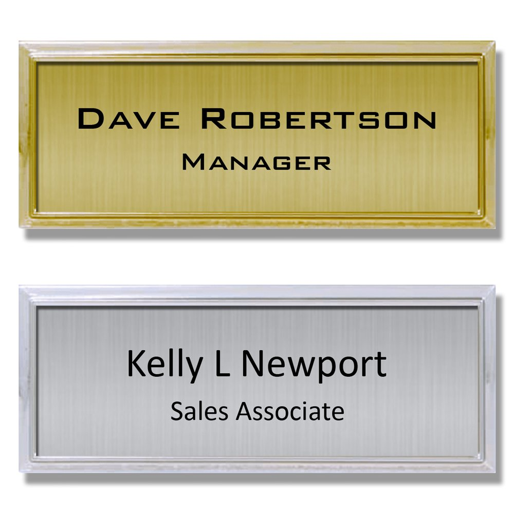 "Name Tag ID Badge Custom Personalized I.D. Identification - 1"" x 3"""