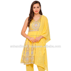 fancy yellow indian ladies suit ladies punjabi suits cotton punjabi suits ladies