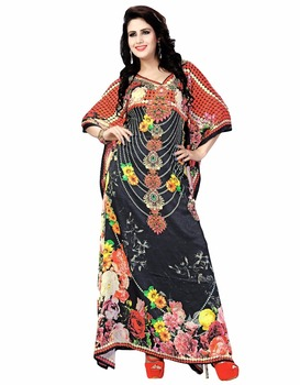 02d9331b80 Dubai Style EID Special Digital Printed Party Wear Kaftan (kaftans 2017)
