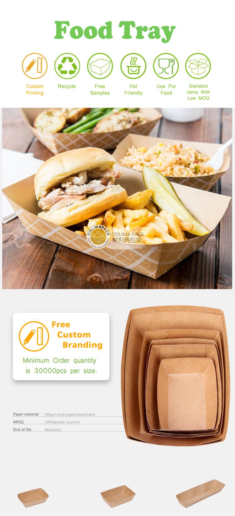 Papier doos voor hamburger, kartonnen burger doos