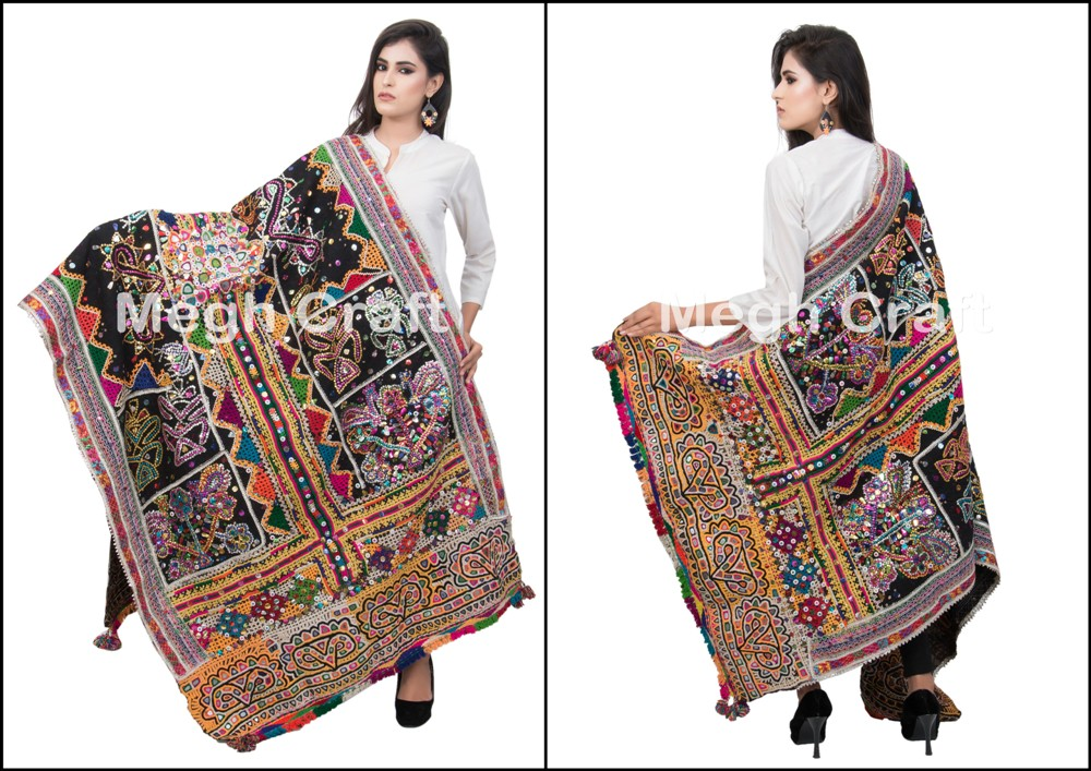 Handmade Embroidered Jacket - indian Embroidered Jackets Coat Ladies Embroidered Coats/ Cotton Kutch Mirror Jacket