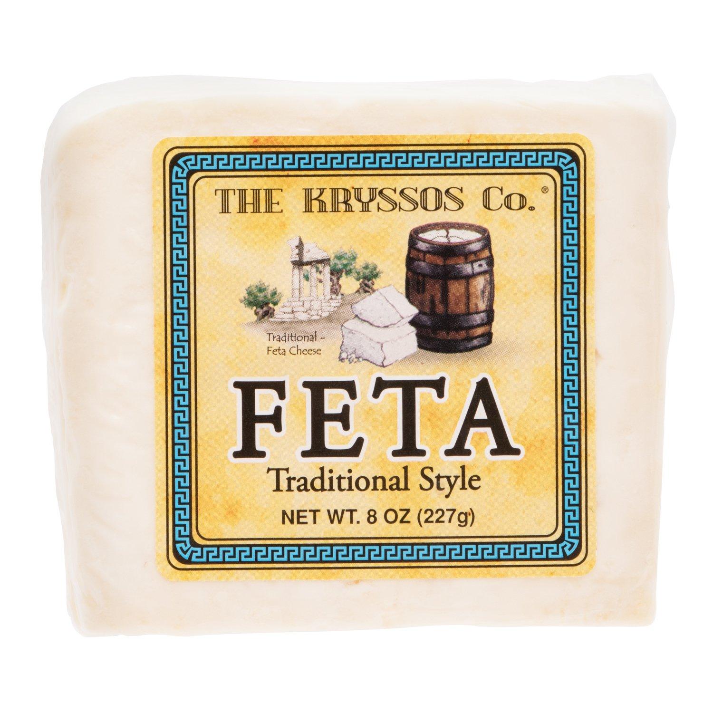 Kryssos Traditional Feta Cheese, 8 oz