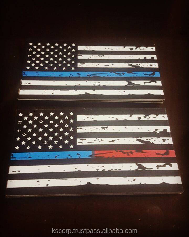 Custom Blue Line Police Decal Vinyl Sticker Outdoor Waterproof Car Windows Bikes Stickers Printing Quality