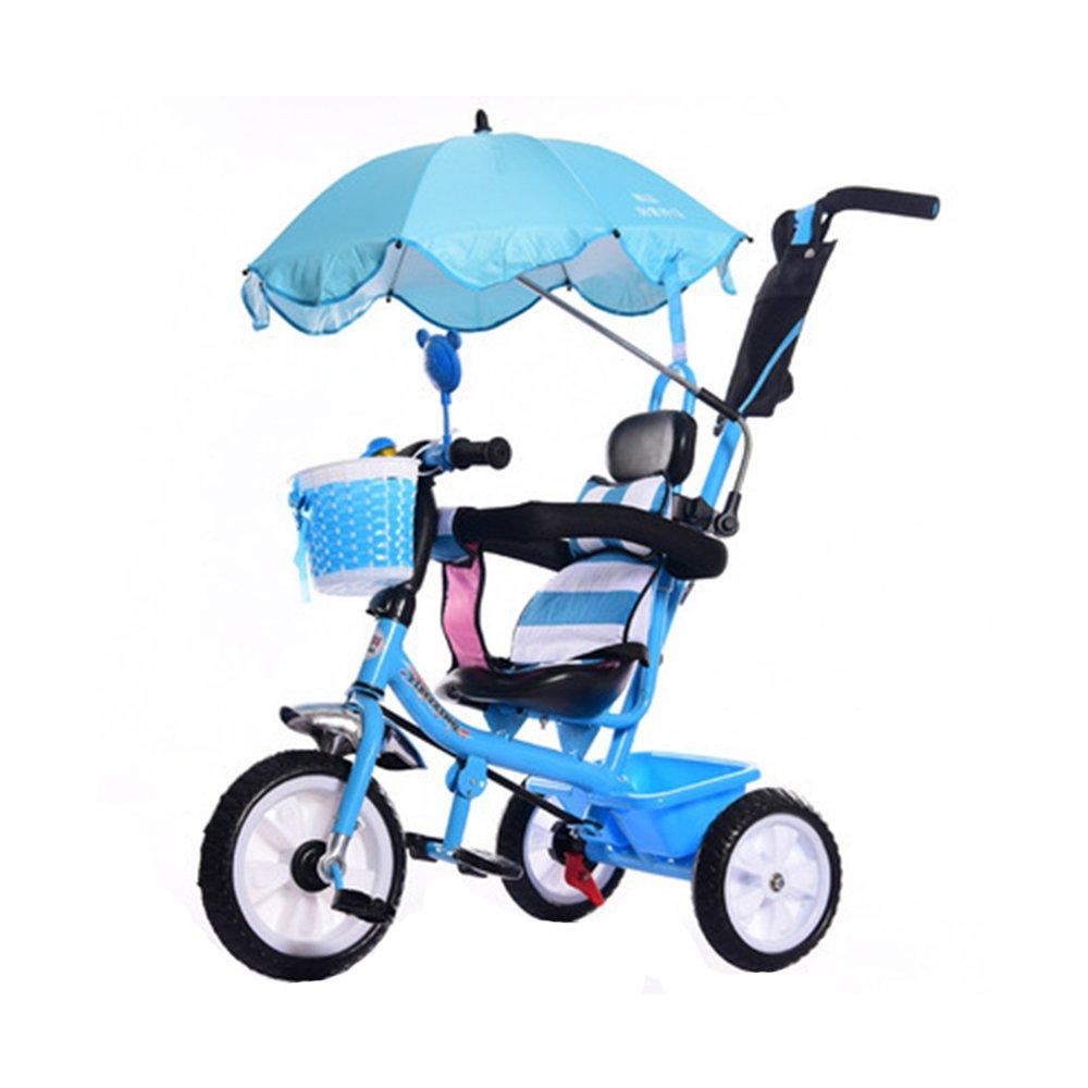 KOOK Wheelchair Pushchair Baby Stroller Umbrella and Holder Parasol UV Rays Rain Sun Canopy,Stretchable Pram Stroller Chair Umbrella Bar Holder, Bicycle Umbrella Holder Clip Clamp (Blue)