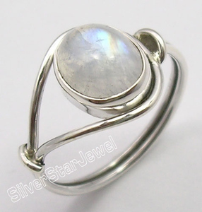 Engagement rainbow moonstone ring new arrival natural rainbow moonstone ring 925 pure silver ring