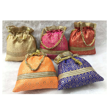 Indian Handmade Potli Bag Buy Hand Embroidery Fancy Purse Zari