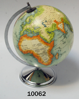 Nautical World Map Globe Iron With Nickel Finish