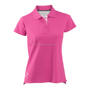 Custom women short sleeve polo t-shirt
