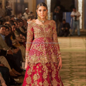 f9f2934006 red pakistani bridal dresses, red pakistani bridal dresses Suppliers and  Manufacturers at Alibaba.com
