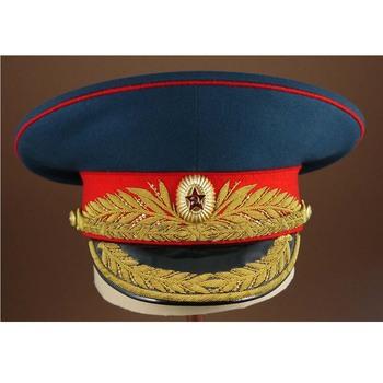 197d07b6526 Mot Gen parade Russian peck cap Military white cotton visor hat with insgnia