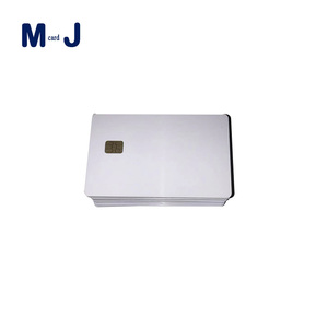 Wholesale factory price blank smart card contact IC chip card for member ID or driver license