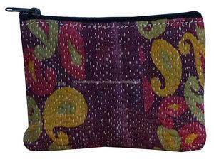 31702ce3229b Ethnic Wholesale Indian Vintage Kantha Purse Kantha Sari Bag