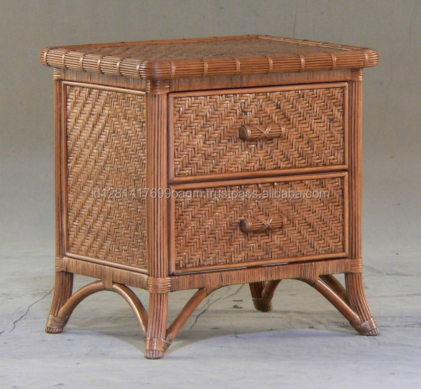 Antique Design Bombay Night Stand with 2 Drawer for Bedroom Furniture