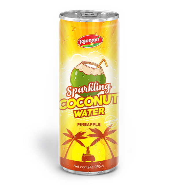 Sparkling coconut water with watermelon flavor for business Coconut water