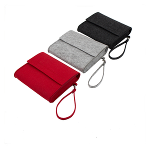 Red color grey color black color felt clutch bag made in China