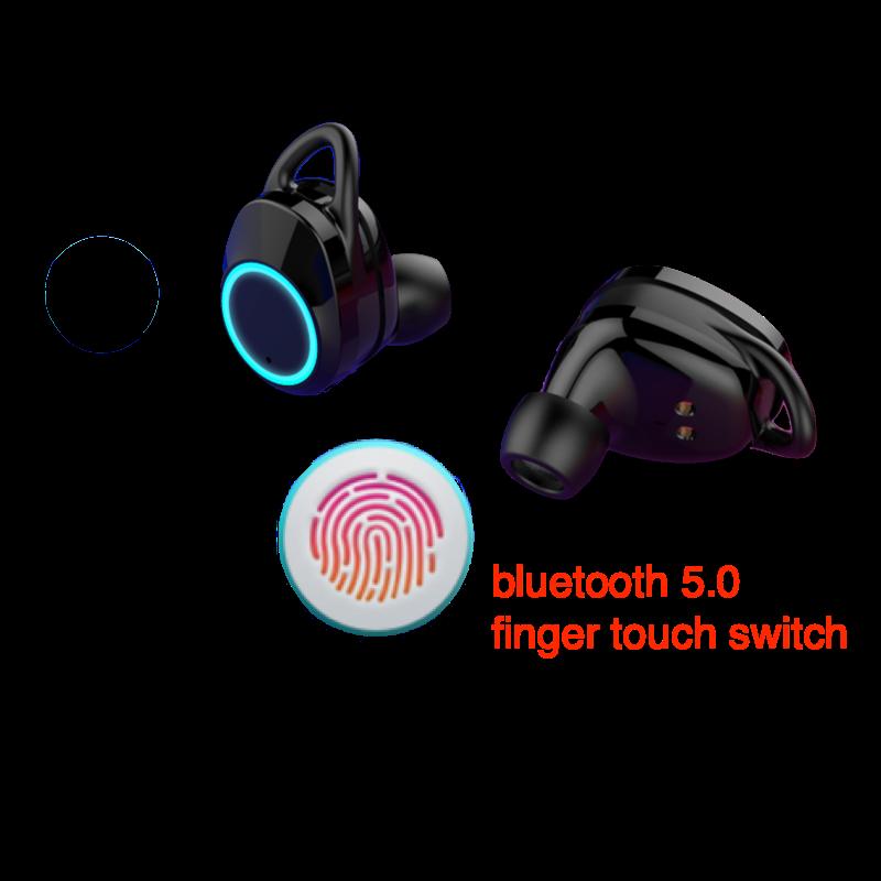 Mini esporte TWS gêmeos sem fio fone de ouvido bluetooth com caixa de carga