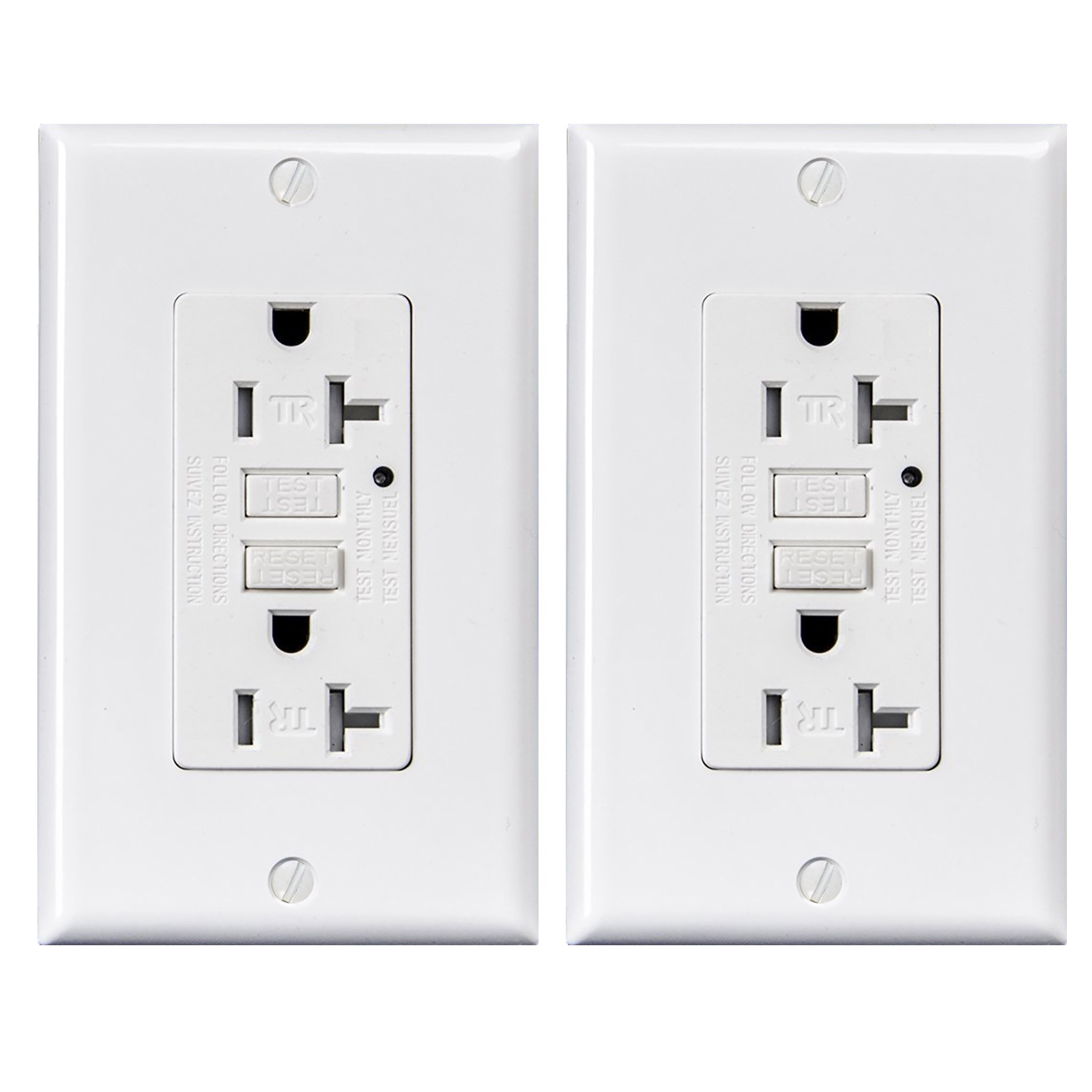Cheap Gfci Outlet Find Deals On Line At Alibabacom An Overview Of Groundfault Circuit Interrupter Eep Get Quotations 20 Amp Tamper Resistant Receptacle With Led Indicator 125 Volt Wallplate And