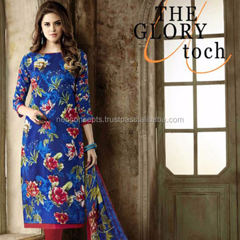 Salwar Kameez Designs Women Casual Wear Semi Stitched Pakistani