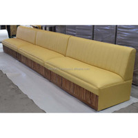 Latest Modern PU Leather Restaurant Sofa