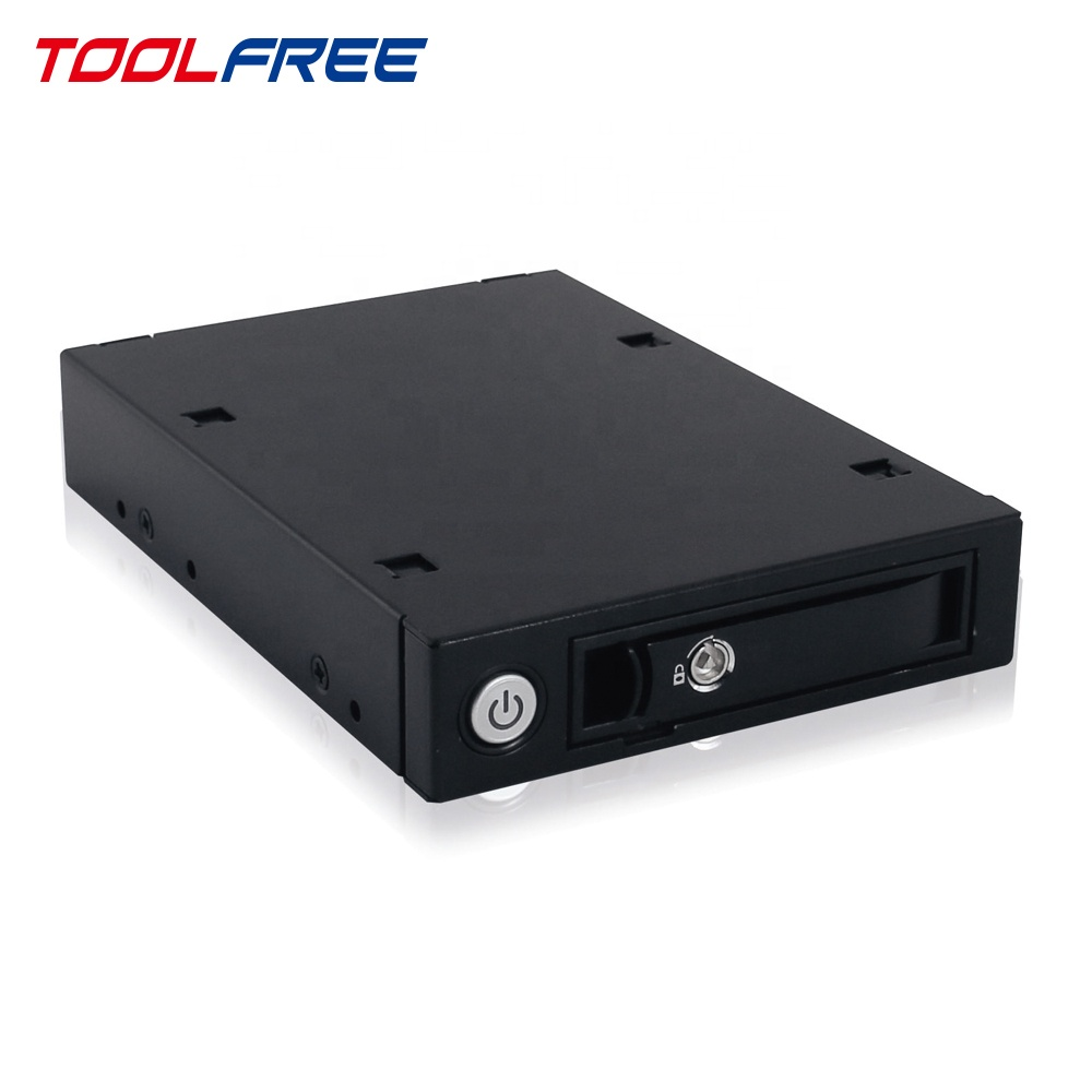 TOOLFREE di 2.5 pollici Mobile Rack All Metal SATA/SAS 6G SSD hdd 15 millimetri