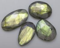 23.40 CTS NATURAL LABRADORITE ROSE CUT FACETED FANCY 4 PIECE GEMSTONE