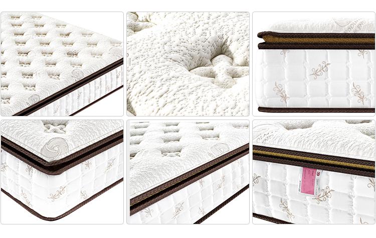 5 stelle Hotel di Vuoto Compressa di Lusso In Fibra di Bambù Tasca Materasso A Molle