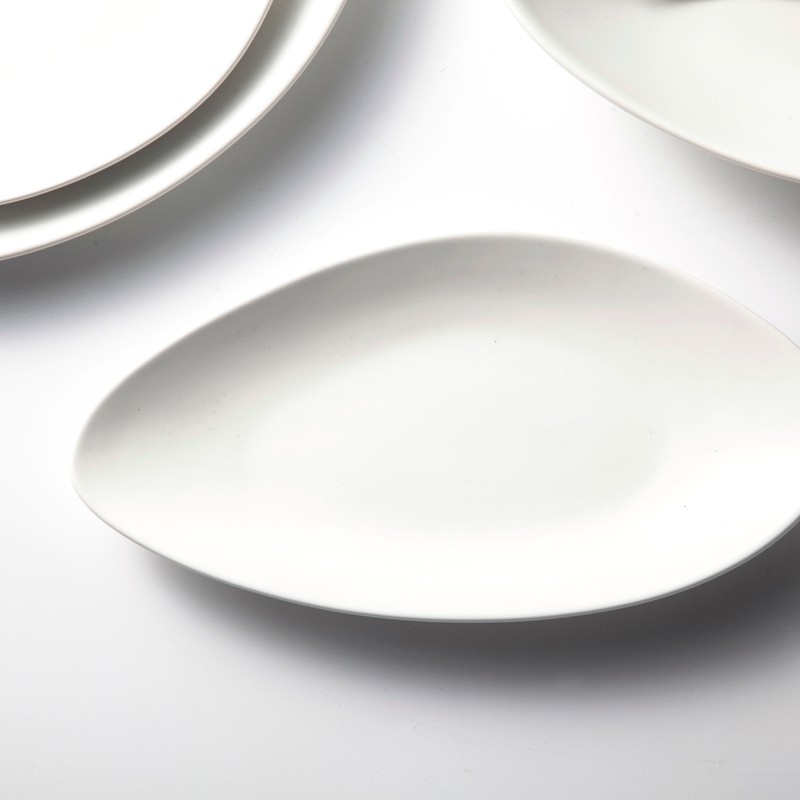 product-Two Eight-hotel and restaurant white ceramic dinnerware set matt white tableware set-img