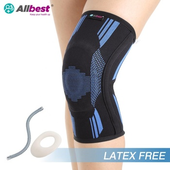 Latex free  Elastic Stretch Knee Sleeve Support Brace