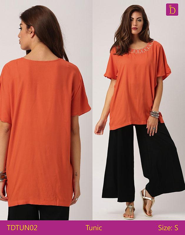 f482b176459eb Tunics For Women Knee Length Kurta With Khadi Print And Curved ...