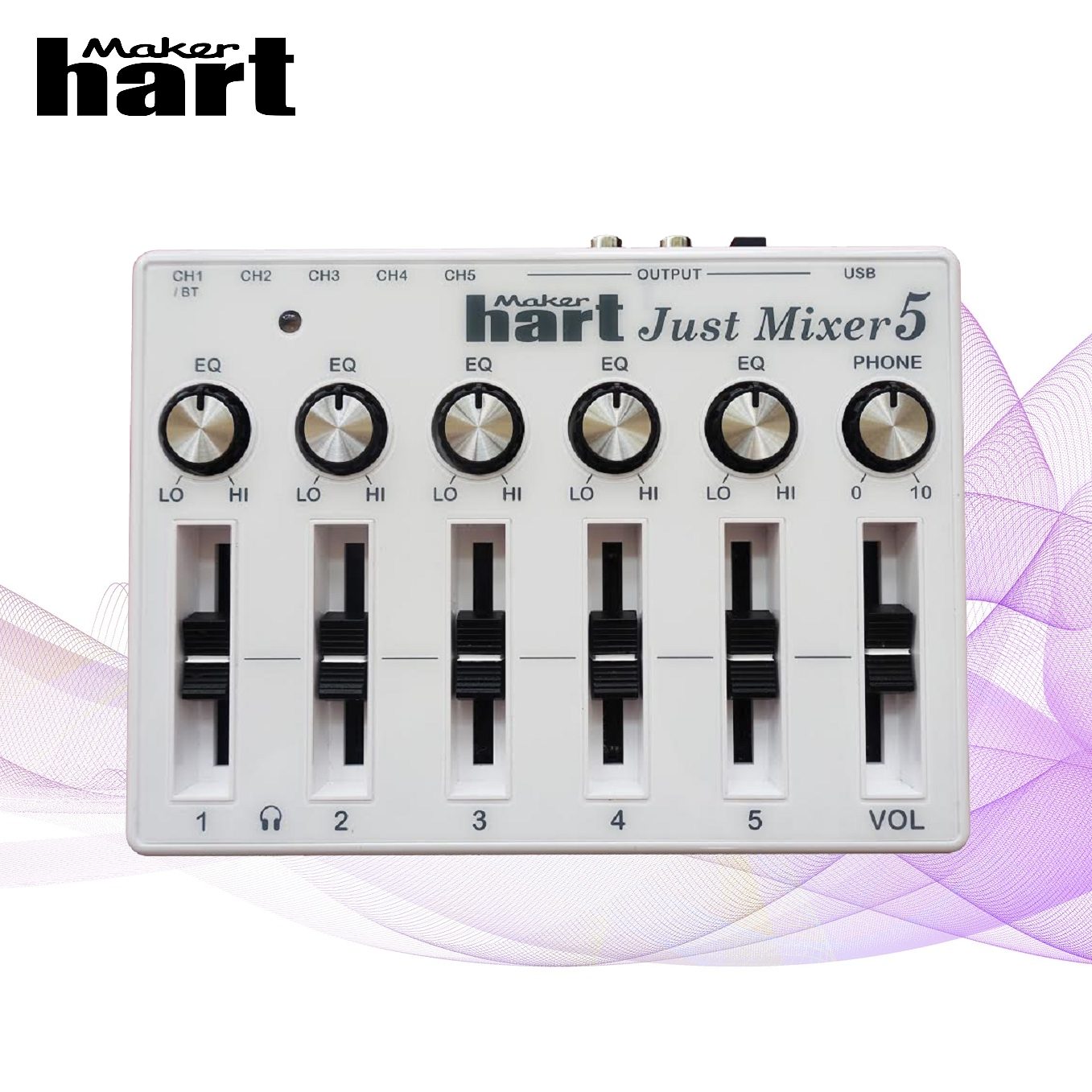 Just Mixer 2 Silver 220V-240V small mixing console mini audio mixer