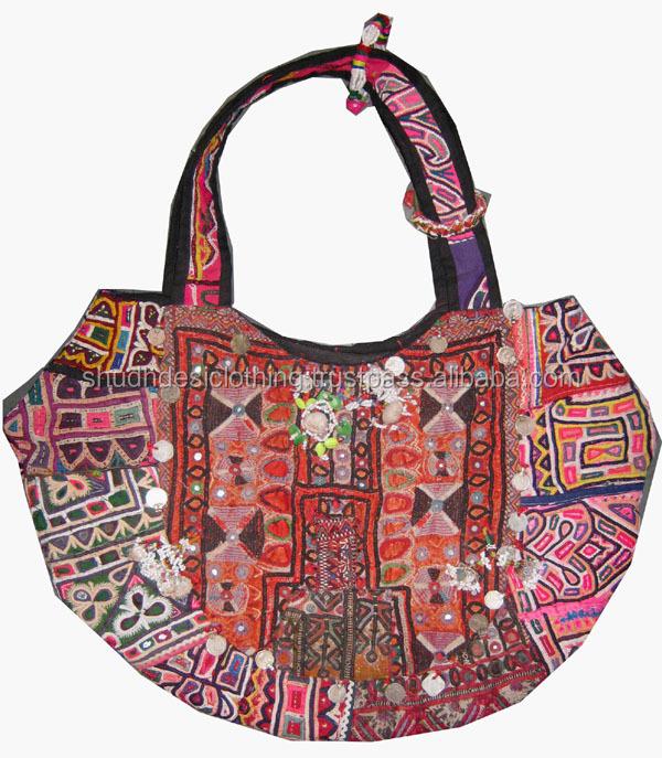 Ethnic Indian Sling Boho Tribal Traditional Vintage Banjara Bag ... 6be7ee29b1c2f