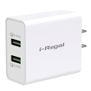 2020 New Fast charging 36W  cell mobile phone Charger 2 Port  QC3.0 Quick charger  For Samsung