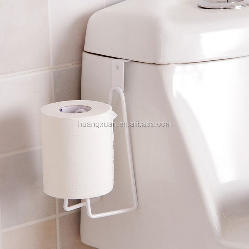 1pc Over Tank Metal Toilet Roll Holder Roll Reserve Paper Tissue